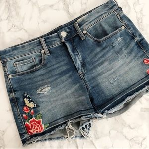 BlankNYC Embroidered denim shorts